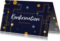Konfirmations-Glückwunschkarte Kreuz grafisch