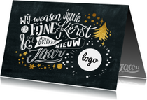 Krijtbord lettering kerstkaart