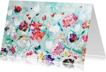 Kunst schilderij print Tuin
