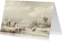 Kunstkaart Lodewijk Johannes Kleijn. Winterlandschap