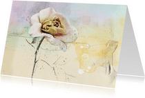 Kunstkaart roos pastel kunst