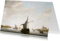 Kunstkaart van Aelbert Cuyp. Gezicht op de Maas
