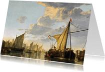Kunstkaart van Aelbert Cuyp 'Schepen op de Maas'