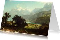 Kunstkaart van Albert Bierstadt. Amerikaans landschap