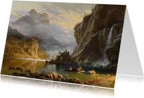 Kunstkaart van Albert Bierstadt. Een Amerikaans landschap