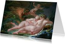 Kunstkaart van Boucher. Pan en Syrinx