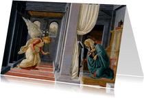 Kunstkaart van de aankondiging aan Maria