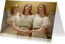 kunstkaart van Franz Kadlik. Drie engelen