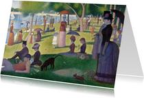 Kunstkaart van Georges Seurat. Een zondag op La Grande Jatte