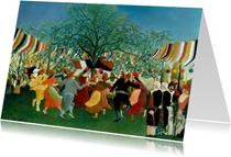 Kunstkaart van Henri Rousseau. De feestdag