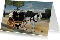 Kunstkaart van Henri Rousseau. Het paardenritje
