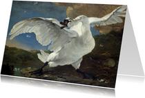 Kunstkaart van Jan Asselijn. De bedreigde zwaan