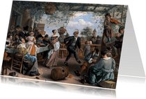 Kunstkaart van Jan Steen. Het dansende stel