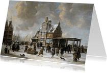 Kunstkaart van Jan van der Heijden. Stadhuis op de Dam