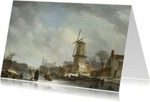 kunstkaart van Johannes Couwenberg. IJsvermaak