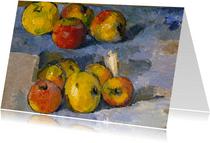 Kunstkaart van Paul Cezanne.  Stilleven met appels