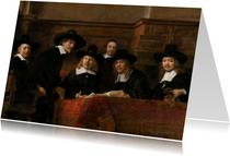 Kunstkaart van Rembrandt. De staalmeester