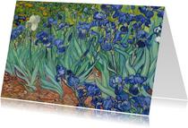 Kunstkaart van Vincent van Gogh. Irissen