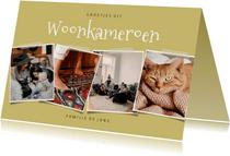 Leuke fotokaart collage 'groetjes uit Woonkameroen'