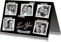 Leuke liefde kaart met diverse eigen foto's