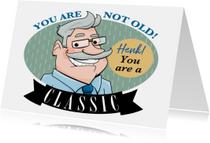 Verjaardagskaarten - Leuke verjaardagskaart man met snor in ovaal