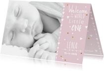 lief geboortekaartje foto Lena