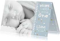 Lief geboortekaartje foto Liam