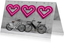 Valentijnskaarten - Liefde is samen fietsen