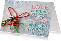 Liefde kaart gelukspoppetjes