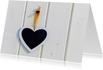 Liefde kaart Hart Krijt - AJ