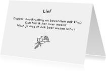 Liefdekaart Lief - Gedicht