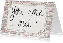 Liefdekaart You & Me