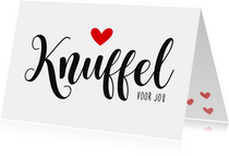 Liefdeskaart Knuffelkaart
