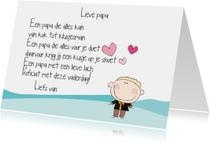 Vaderdag kaarten - Lieve papa jongen
