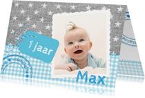 Kinderfeestjes - Linnen Sterren Label Jongen