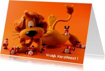 Kerstkaarten - Loeki de Leeuw kerstmannen