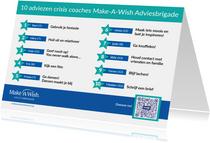 Make-A-Wish 10 adviezen Adviesbrigade crisis coaches