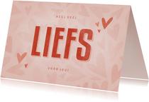 Make-A-Wish kaartje veel liefs voor jou met hartjes