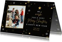 Make-A-Wish kerst Merry Christmas met foto en sterren