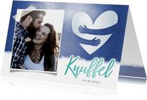Make-A-Wish knuffel kaart met hart en eigen foto