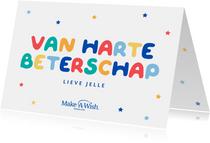 Make-A-Wish van harte beterschapskaart