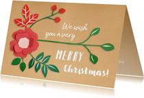 Merry Christmas botanical