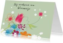 Moderne Bloemenkaart