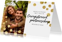 Moderne felicitatiekaart geregistreerd partnerschap