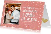 Moderne kaart met eigen foto voor de allerliefste oma
