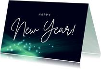 Moderne nieuwjaarskaart licht mint groen