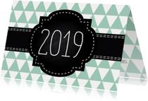 Moderne nieuwjaarskaart voor zakelijk gebruik of prive