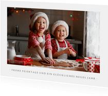 Moderne Weihnachtskarte mit Foto