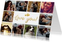 Moederdag love you fotocollage kaart met 10 foto's