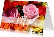 Moederdag kaarten - Moederdag roosjes